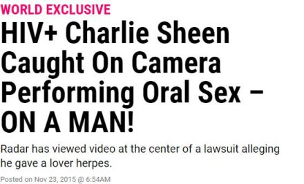 radar online charlie sheen