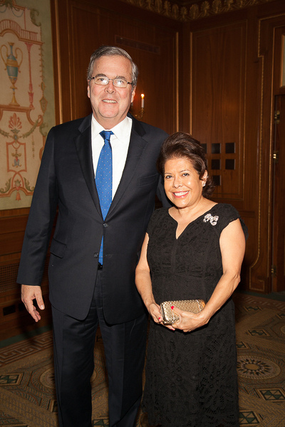 Jeb Bush and his beautiful little Mexican American wife Columba
