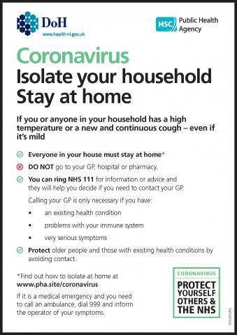 Advice on COVID-19 (coronavirus) | HSC Public Health Agency