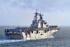 U.S. warship aircraft carrier
