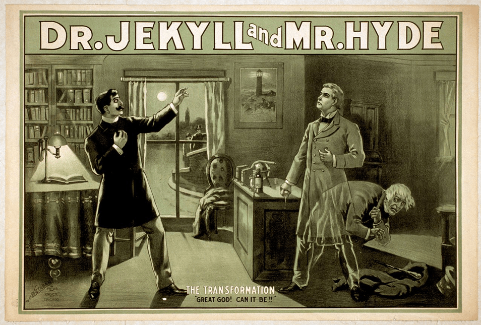 vintage Dr. Jekyll and Mr. Hyde poster