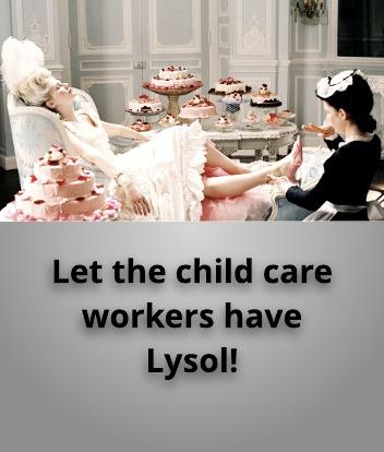 Aren't child care worker's women too?