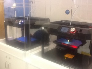 There were two 3D printers: they're simpler than the more expensive designs.  Charging is at full cost recovery.