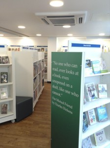 A nice new library in Medway.  Good quote too