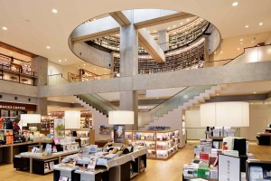Ebina Library.  Bookstore and Starbucks on 1st floor, library on floors 2-4 and in basement.