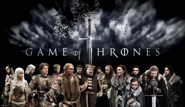 This promotional image of the ensemble cast of the first season of HBO's Game of Thrones features only one actor of color: Jason Momoa who played Khal Drogo.