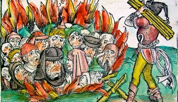 Nuremburg Chronicle Jews Burning