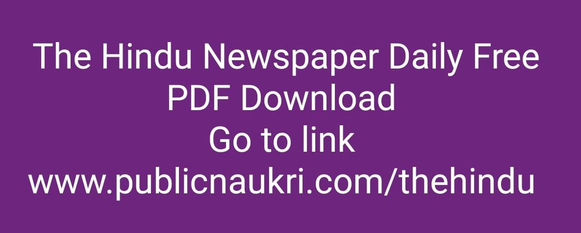 Today Hindu News Paper Pdf