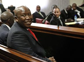 Image result for Julius Malema in court on corruption charges images