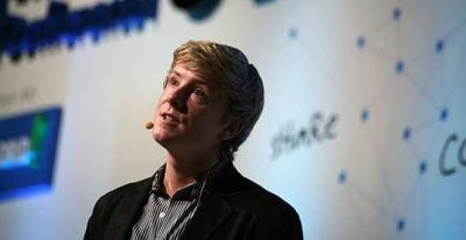 Chris Hughes, ayer, en la Conferencia Europea de Comercio Electrónico.