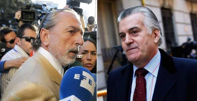 El cabecilla de la trama Gürtel, Francisco Correa, y el extesorero del PP, Luis Bárcenas. EFE/REUTERS