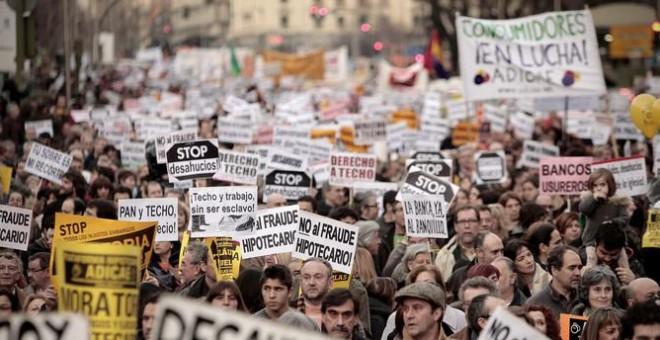 Manifestación en contra de los desahucios. / Olmo Calvo-Sinc
