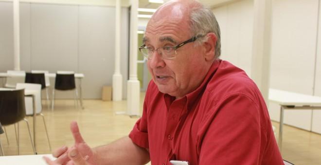 Lluís Rabell, durante la entrevista./ M. F.