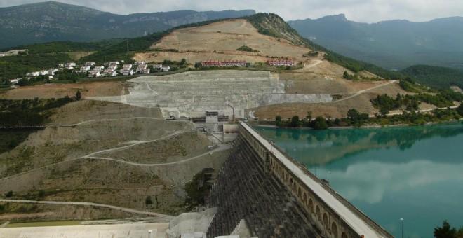 Obras embalse Yesa, Navarra. Confederación Hidrográfica del Ebro