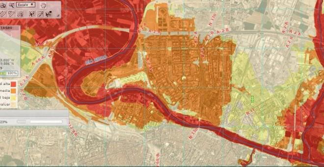 El portal del Plan de Gestión de Riesgos de Inundación sitúa las zonas con mayor probabilidad de resultar anegadas en las mismas áreas que el geólogo. Chebro.es