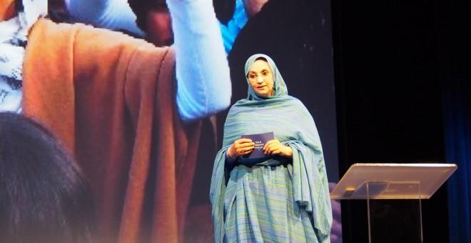 La activista Saharaui Aminatou Haidar.