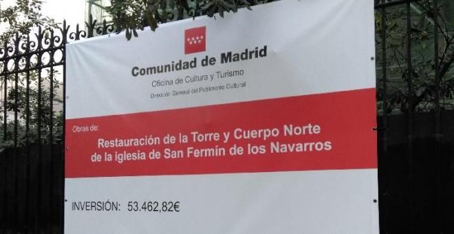 La Comunidad de Madrid restaura una iglesia que no cumple con la Ley de Memoria Histórica.- FORO POR LA MEMORIA
