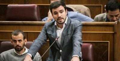 Alberto Garzón durante su comparecencia en el Congreso. EUROPA PRESS