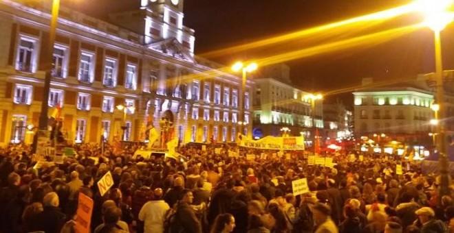 La Puerta del Sol al final de la manifestación.PÚBLICO