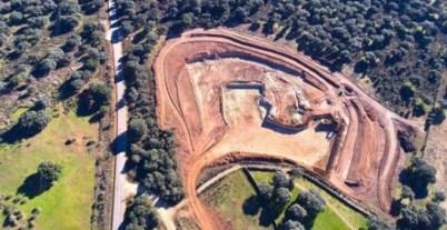 Los trabajos de construcción para la futura mina de uranio en Retortillo, Salamanca.