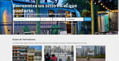 Página web de Airbnb. EP