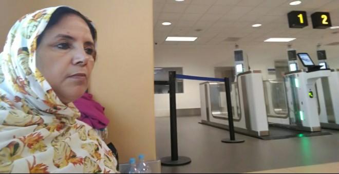 La diplomática saharaui Jadiyetu El Mohtar