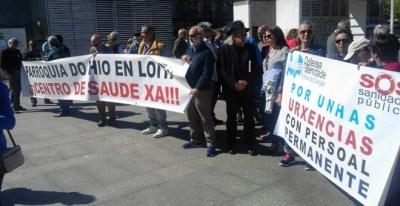 Manifestación por la sanidad pública frente a la sede de la Xunta en Vigo. SOS Sanidade Pública