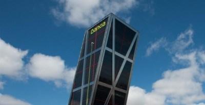 Sede de Bankia, en una de las Torres Kio en la madrileña plaza de Castilla. E.P.