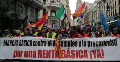 Cientos de personas, venidas de todas las partes de España, se han manifestado en la capital para protestar contra el desempleo y la precariedad./ Twitter