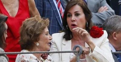 Carmen Martínez-Bordiú y su madre, Carmen Franco Polo, en una imagen de archivo. EFE