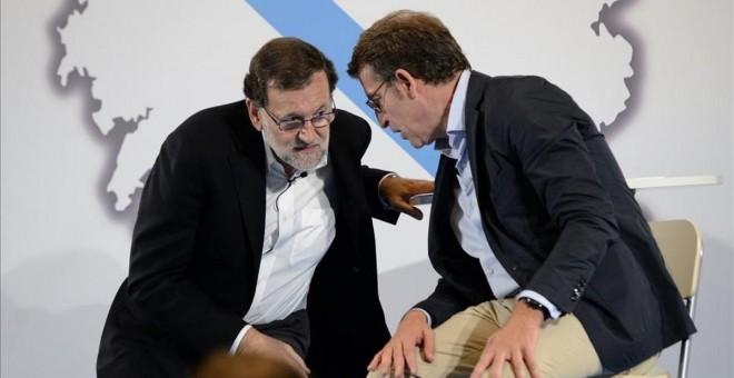 Rajoy y Feijóo en una imagen de archivo. EFE