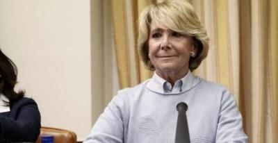 10/04/2018.- La expresidenta de la Comunidad de Madrid Esperanza Aguirre, durante su comparecencia en el Congreso de los Diputados. EFE/Mariscal