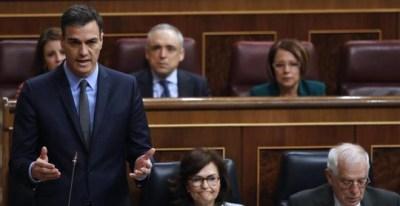 El presidente del Gobierno, Pedro Sánchez, durante su intervención en la última sesión de control al Ejecutivo / EFE