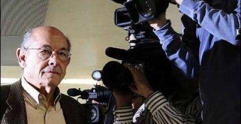 Comparecencia de Felix Millet ex presidente del Palau de la Musica en los juzgados de Barcelona.