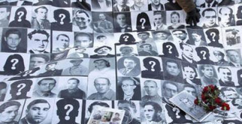 Pancarta víctimas franquismo