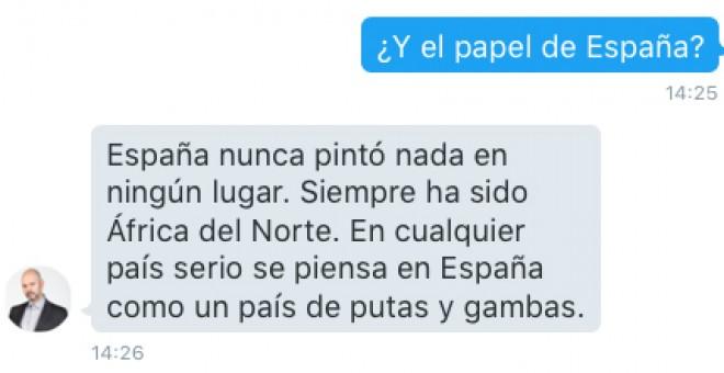 Pantallazao de la entrevista por Twitter.
