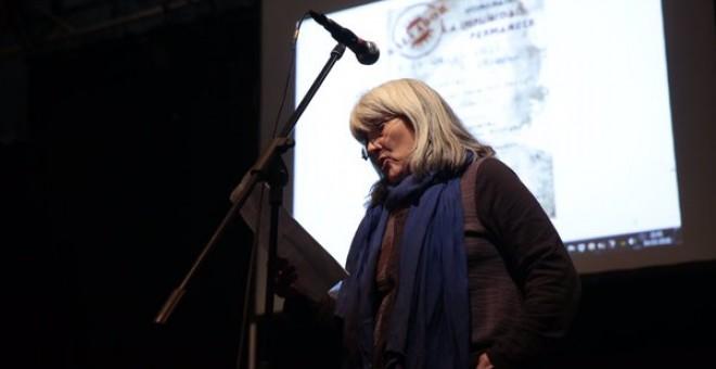 Merçona Puig Antich durante el acto homenaje a su hermano Salvador celebrado el viernes en Madrid