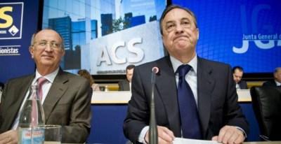 El presidente de ACS, Florentino Pérez, en una junta de accionistas de la constructora. EFE
