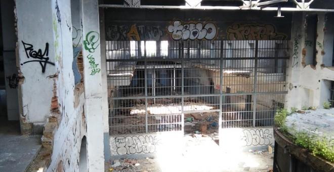 Estado en el que se encuentran las instalaciones de la vieja cárcel de Huelva. RAFAEL MORENO