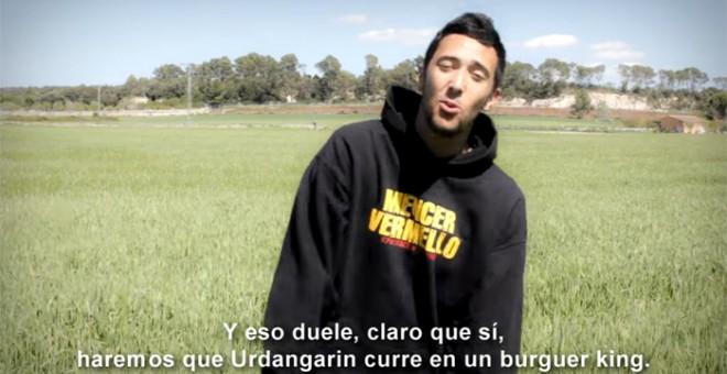 Un momento del vídeo de la canción 'No al Borbó', que fue emitida en el espacio televisivo 'La Tuerka'