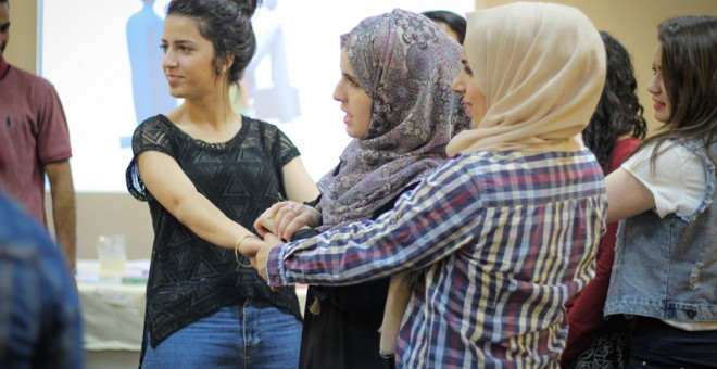 Adolescentes palestinas participantes en el proyecto Youth for Change. L.L.R