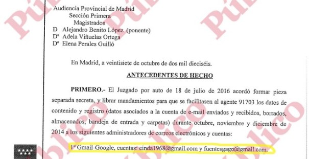 Inicio del auto 955/2016 de la Sección Primera de la Audiencia Nacional de Madrid.