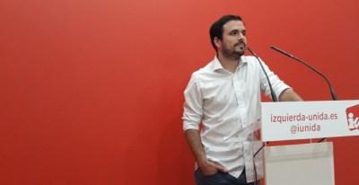 El coordinador general de IU, Alberto Garzón. E.