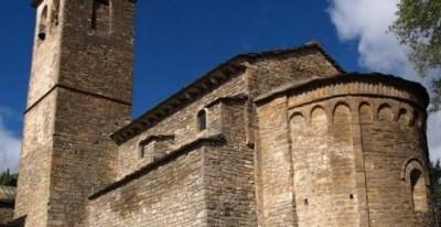 La iglesia de Badaguas, en la Jacetania, es una de las inscritas por el obispado de Jaca a su nombre.