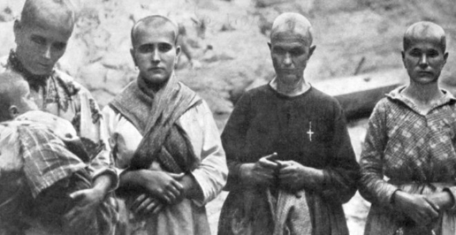 Cuatro mujeres rapadas y humilladas en Oropesa (Toledo) en la guerra civil. | Archivo