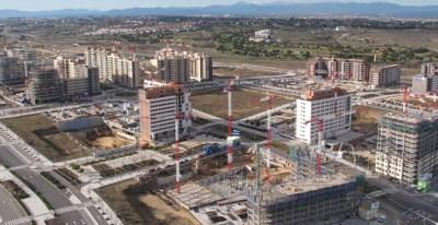 Obras en la zona de Valdebebas (Madrid). -VALDEBEBAS