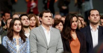Inés Arrimadas, Albert Rivera, Begoña Villacís e Ignacio Aguado en una imagen de archivo en un acto de Ciudadanos en Madrid / EFE