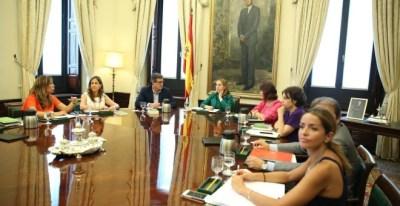 Imagen de una reunión de la Mesa del Congreso, presidida por Ana Pastor. E.P.