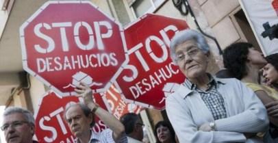 Protesta contra un desahucio. EFE/Archivo