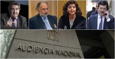 Los jueces José Ricardo de Prada, Julio de Diego, Concepción Espejel y Fernando Andreu. EFE